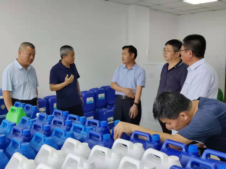 2021年6月24日,山东省临沂市农业局领导考察调研雄一电解水减药控害项目